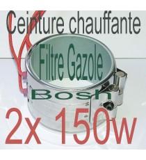 Kit Réchauffeur ceinture chauffante 2x150w filtre a Gazole, biodiesel