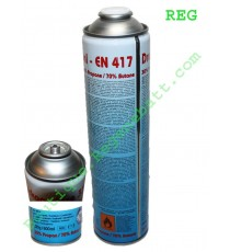 Recharge Gaz EN 417 Butane et Propane Druckgasdose