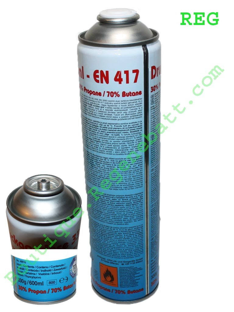 Le Gaz Butane dedans recharge gaz en 417 butane et propane - regenebatt