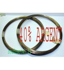 Brasure Argent Nue 40% Cuivre Plomberie Gaz Clim D1,5mm/D2mm