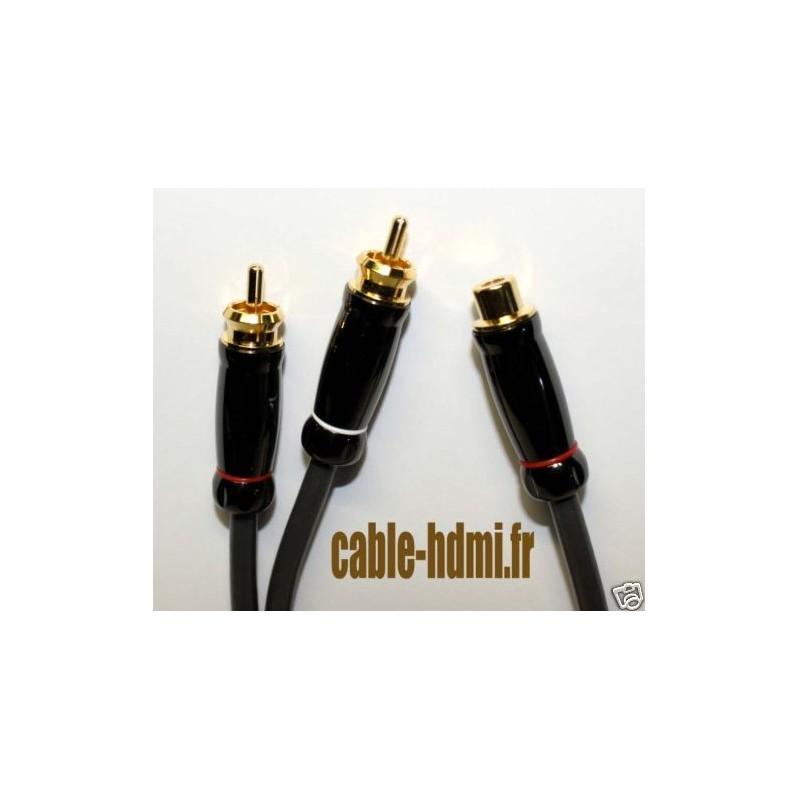 cable caisson de basse 1f 2m 3m or 24k tuning auto. Black Bedroom Furniture Sets. Home Design Ideas