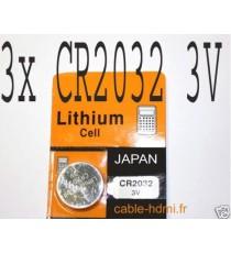 Pile Lithium CR2032 3V Japan (x3)