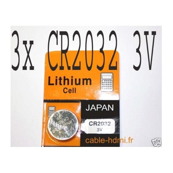 pile lithium cr2032 3v japan x3. Black Bedroom Furniture Sets. Home Design Ideas