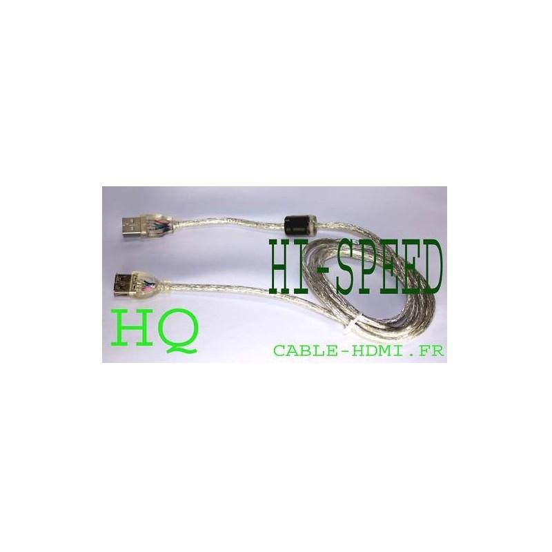 Cable rallonge usb 2 0 1 5m hi speed m f blind - Rallonge usb 5m ...