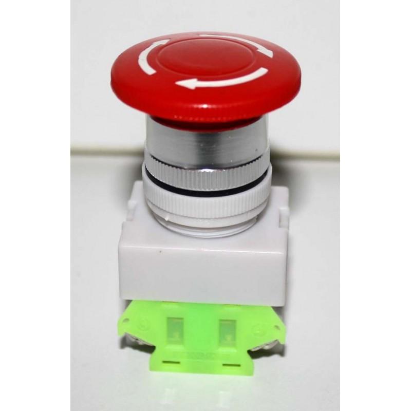 bouton interrupteur d 39 arr t d 39 urgence no ou nf. Black Bedroom Furniture Sets. Home Design Ideas