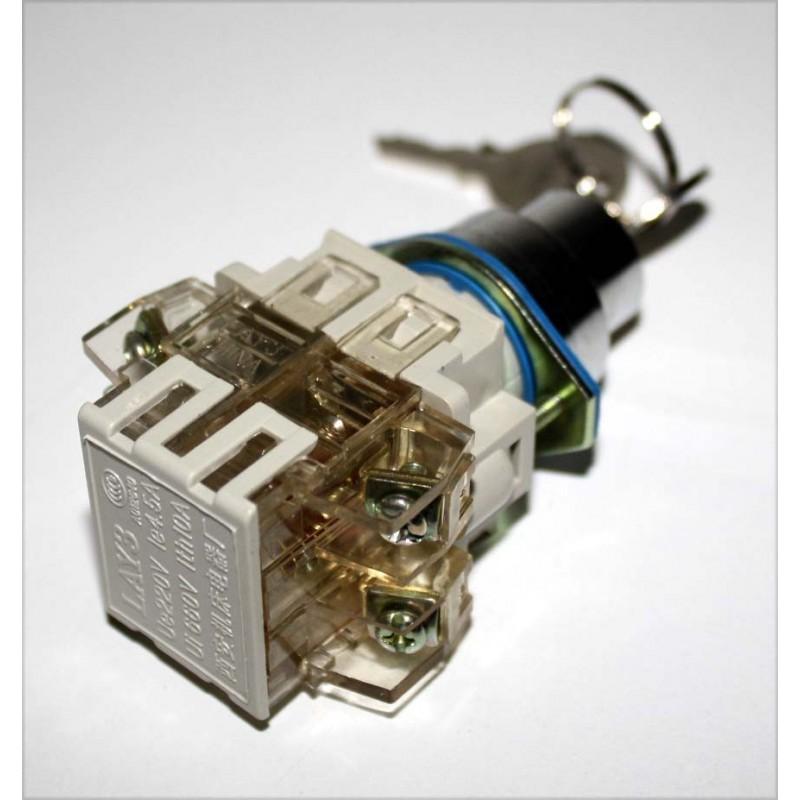 interrupteur contacteur cl clef de contact 220v 4 5a no nf. Black Bedroom Furniture Sets. Home Design Ideas