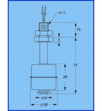 Capteur de niveau d'eau Inox à flotteur Medium HQ