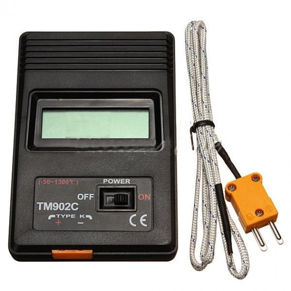 K-Type Digitale LCD Thermomètre Thermodetector + Thermocouple Probe -50 ~ 1300?