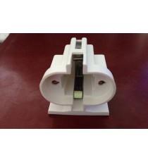 Support Ampoule G23, pour lampe fluo ou led - face avant