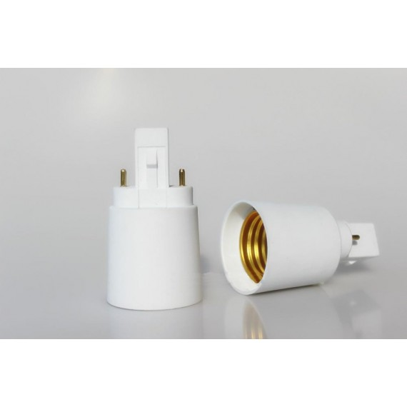 Convertisseur G23 vers E27 pour ampoule fluo lampe