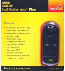 Anémomètre thermomètre mesure vitesse du vent GM816