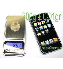 1000g ± 0,1g Mini Balance electronique monnaie iphone