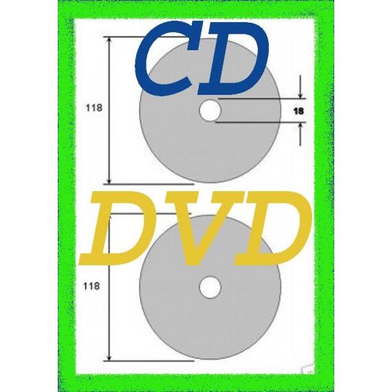 50 Etiquettes autocollantes, Adhésif Pour DVD CD laser
