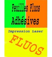 10 Feuilles Fluorescentes autocollantes, Adhésif Fluo