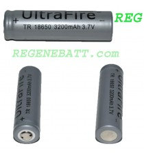 Accus Li-ion Ultrafire 18650 3200mAh 3,7v Trio