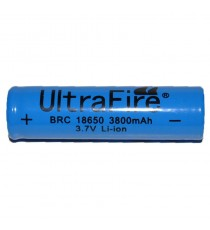 Accus Li-ion Ultrafire 18650 3800mAh 3,7v