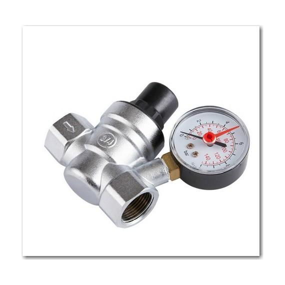 """1/2"""" réducteur de pression d'eau avec manomètre DN15"""