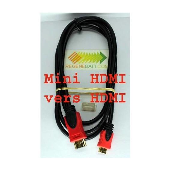 Cordon Blindé mini HDMI HDTV Male vers HDMI 1,5m Sony