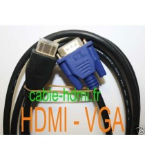 Cable HDMI 19P Male vers VGA HD-15 Male 10 Gbps