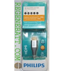 Cable HDMI Philips Haute Vitesse 1.3 Or 24k 1m Blu-Ray