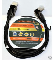 Cable HDMI Angle droit Or 24k DVD XBOBX 0,5m/1m/1,5m/2m
