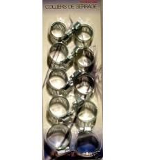 10 colliers de serrage auto plomberie