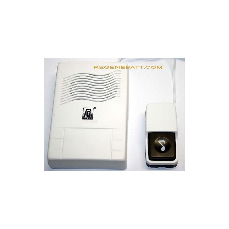 Sonnette Électronique Filaire Regenebatt Carillon Poussoir Avec JFK1Tlc3