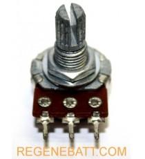 Potentiomètre 15mm Potar 3 pins (simple tonalité 10K, 50K, 85K, 100K, 250K ou stéréo tonalité 5K, 10K, 50K, 100K)