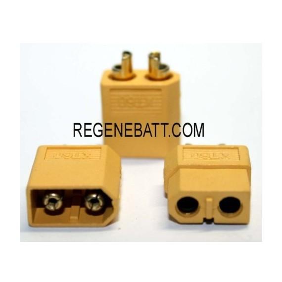 Connecteur Prise XT60 60A batterie 12v 24v 36v 48v 60v