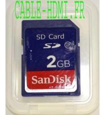 SANDISK 2 Gb Go 2048Mo SD Card carte mémoire