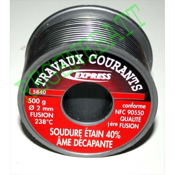 Bobine de Soudure 500g 60% étain / 40% plomb 1mm