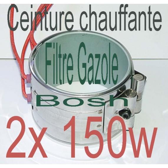 Réchauffeur ceinture chauffante 1x150w 24v filtre a Gazole, biodiesel