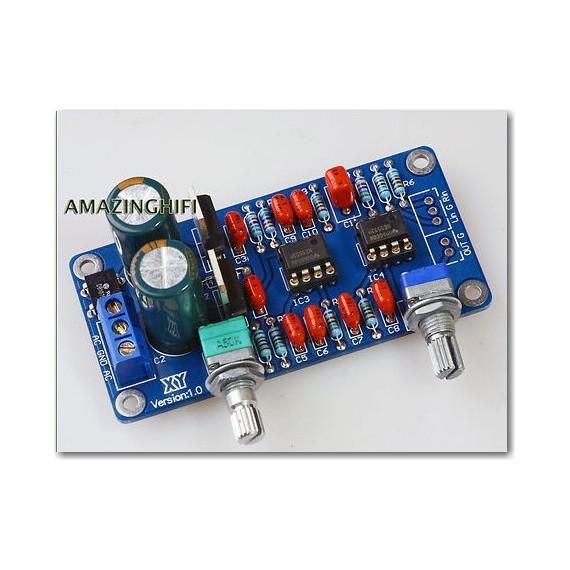 Kit carte filtre traitement Ultra bass pour amplificateur
