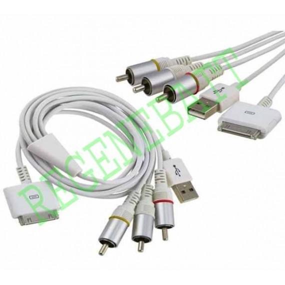 Cable AV TV IPHONE 3G IPOD Nano Classic Video