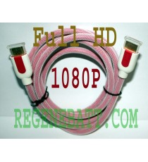 Cable HDMI M/M Full HD Plaqué OR 2 mètres Rose DVD XBOX