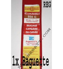 Brasure Castolin 808 G Cuivre Phosphore 6% Argent Tuyauteries GAZ