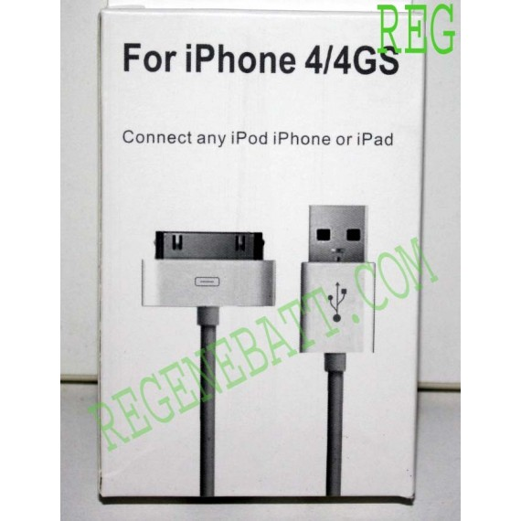 Cable Iphone 4 / 4GS USB 2.0 1m Hi-Speed