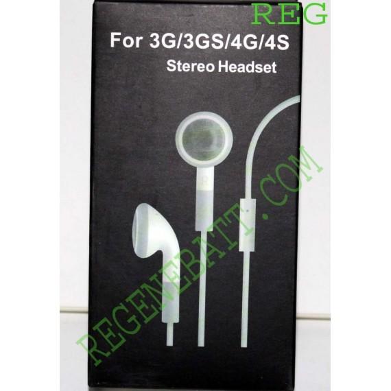 kit piéton iPhone 3G 3GS 4G 4GS earphone, Casque écouteur