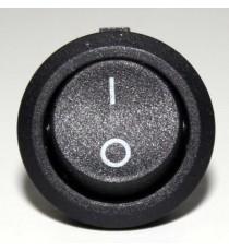 Interrupteur Rond 2 pins - Va et Vient 220v 6A 12v - 24v 10A D20mm