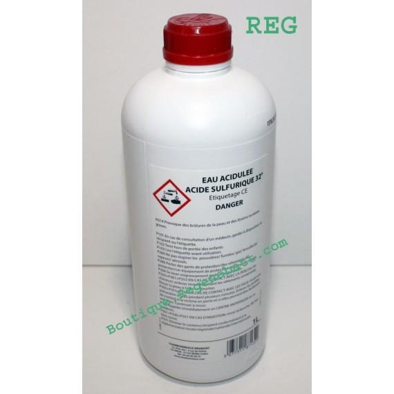 Acide sulfurique 32° - Eau acidulée