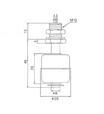 Capteur de niveau réservoir liquide à flotteur INOX Small HQ