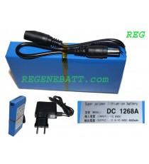 Batterie rechargeable 12v 6800 mAh - Lithium avec chargeur compris