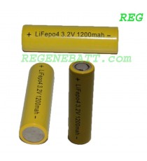 Accus Lifepo4 18650 3.2v 1200 mAh